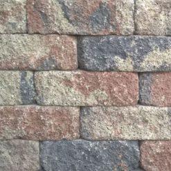 Splitrocks 29x13x11 Tricolore Getrommeld Hoekstuk - Steenvoordeel