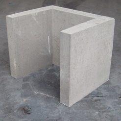 U-element 40x40x50 grijs - 20924 - Steenvoordeel.nl