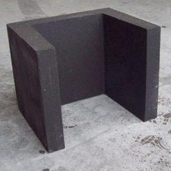 U-element 40x40x50 zwart - 20925 - Steenvoordeel.nl