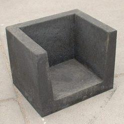 U-hoekelement 40x40x50 zwart - 20927 - Steenvoordeel.nl
