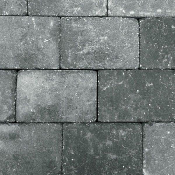 d33a8855000 Trommelsteen 20x30x5 Grijs-Zwart