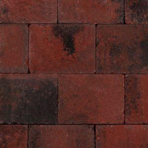 Trommelsteen 20x15x6 Rood-Zwart - 27215 - Steenvoordeel.nl