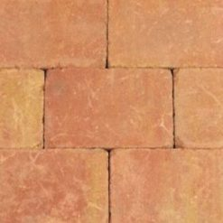 Trommelsteen 20x30x5 Terracotta-Geel GV - 27232 - Steenvoordeel.nl