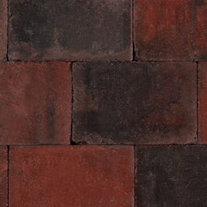 Trommelsteen 20x30x6 Rood-Zwart - 27237 - Steenvoordeel.nl