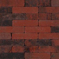 Trommelsteen Waalformaat 7cm Rood-Zwart - 27261 - Steenvoordeel.nl
