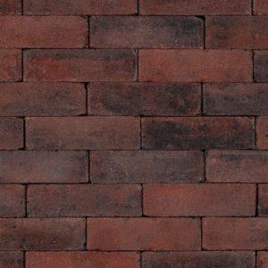 Trommelsteen Dikformaat 6cm Rood-Zwart - 27270 - Steenvoordeel.nl