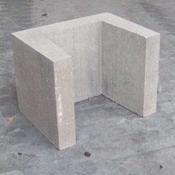 U-element 30x30x40 grijs - 27280 - Steenvoordeel.nl