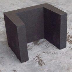 U-element 30x30x40 zwart - 27281 - Steenvoordeel.nl