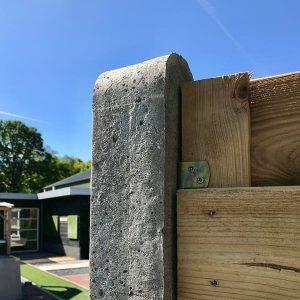 Betonpaal grijs met ronde kop - Steenvoordeel