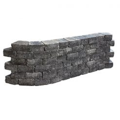 Pilestone Trapezium 23/17x21.5x10 Coal - Steenvoordeel