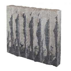 Palissade-Stapelblok Splitton 75x12x12 Matterhorn - Steenvoordeel