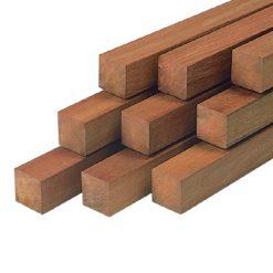 30153 Hardhouten paal 8,5x8,5x300cm Azobe glad geschaafd   Steenvoordeel
