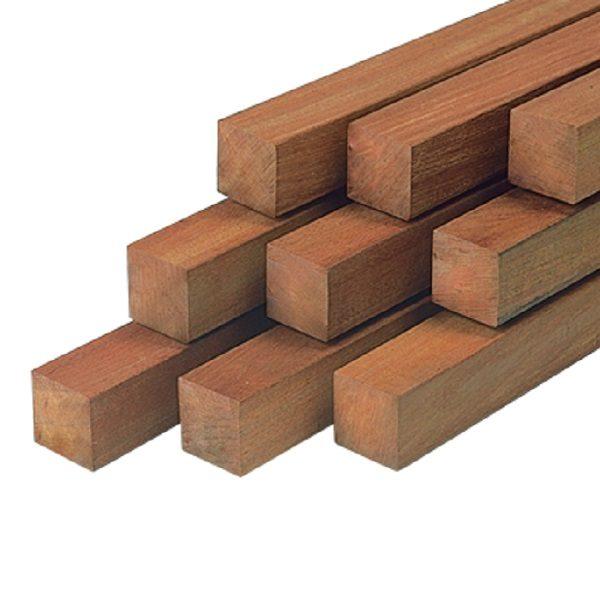 30153 Hardhouten paal 8,5x8,5x300cm Azobe glad geschaafd | Steenvoordeel