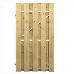 Geïmpregneerde tuindeur 100x200 met stalen frame | Steenvoordeel