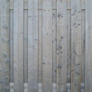 Steigerhout tuinscherm recht Vintage Grey | Steenvoordeel