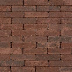 34044 - Antieke Trommelsteen Waalformaat 7cm Gebakken Groninger Bruin