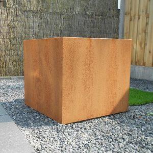 Cortenstaal bloembak 60x60x65 cm - 36613 - Steenvoordeel.nl