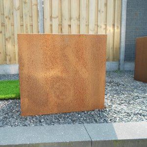 Cortenstaal bloembak 75x75x65 cm - 36614 - Steenvoordeel.nl