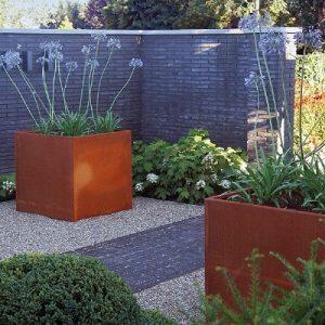 Cortenstaal bloembak 60x100x65 cm - 36616 - Steenvoordeel.nl