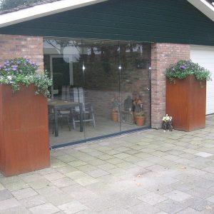 Cortenstaal bloembak 100x100x120 cm - 36620 - Steenvoordeel.nl