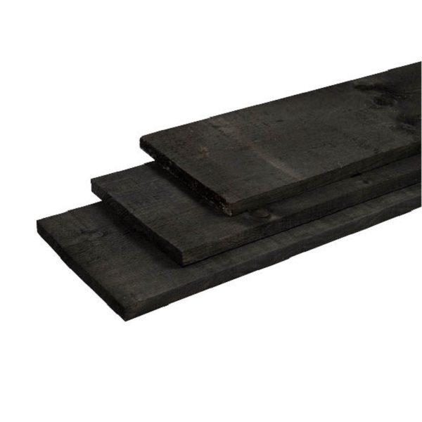 Grenen plank 22x200x4000 Old Black | Steenvoordeel