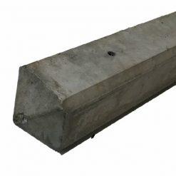 Hoekbetonpaal diamantkop 10x10 cm grijs glad | Steenvoordeel