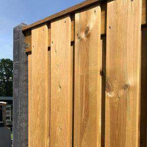 Geïmpregneerde Schutting 21+2 planks (geen doorkijk) - online kopen op Steenvoordeel