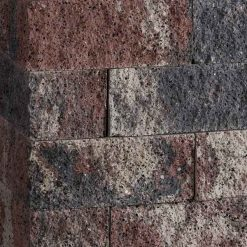 Splitrocks 29x13x11 Tricolore Ongetrommeld Hoekstuk - Steenvoordeel